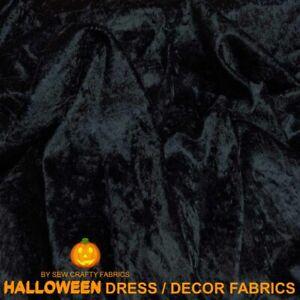 BLACK VELVET HALLOWEEN FABRIC DRAPING CRUSHED STRETCH CAPE GOTHIC DRESS DECOR