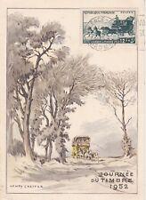 FRANCE 1952 FDC JOURNEE DU TIMBRE VALENCE YT 919