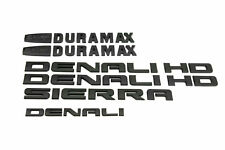 New 11-18 Matte Black GMC Sierra Denali Duramax 2500HD 3500HD Badges Emblem Set