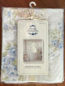 Simply Shabby Chic, Blue British Rose, 1 Curtain Panel 54 x 84 inch - NEW