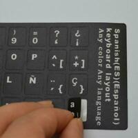 Keyboard Sticker White letter Black Background Waterproof X6D3
