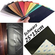 25x15cm Kfz-sitz-flicken Innen Tür Reparatur PU Leder Schwarz Aufkleber Patch 1x