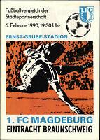 06.02.1990 1. FC Magdeburg - Eintracht Braunschweig, Porträt Uwe Rösler
