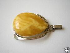 Natur Butterscotch Bernstein Tropfen Anhänger 5,2 g Genuine Amber