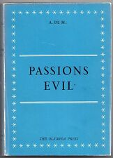 Passions Evil (Gamiani): A.DE.M. Paris Olympia Press 1953 Rare in original wraps