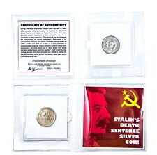 Stalin's Death Sentence Silver Coin Mini Album,Certificate And Story Card KM 88