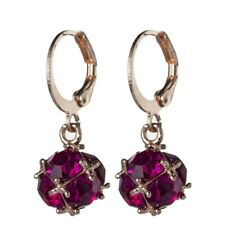Shine Sweet Rose Kunzite Gemstone Rose Gold Dangle Hook Earrings Holiday Gifts