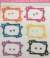 Die Cuts! 18 Pc Large 'Star Frame And Stars' Birthday Christmas Mixed Colours
