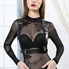 Women Leather Harness Waist Lingerie Bondage Suspenders Fetish BDSM Garter Belts