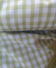"""APPLE GREEN GINGHAM CHECK 1/4"""" cotton mix fabric sold/PER METRE/"""