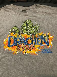 NEW Drachen Fire Roller Coaster T Shirt Busch Gardens New Ride