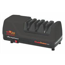 NEW CHEF'S CHOICE 1520 BLACK ELECTRIC DIAMOND HONE KNIFE SHARPENER ANGLESELECT