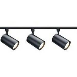 SATCO NUVO 3-Light R30 Straight Cylinder Track Kit, Black TK319