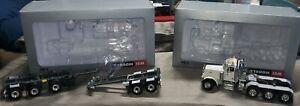 Peterbilt 379 8X4 4 Axle Tractor 1/50 & Broshuis 2Connect 2&3 -Axle WSI Models