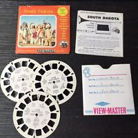 Vintage View-Master 3-Reel Set South Dakota Vacation Series Complete A477