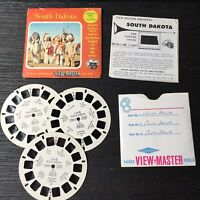Vintage View-Master 3-Reel Set South Dakota Vacation Series Complete A477