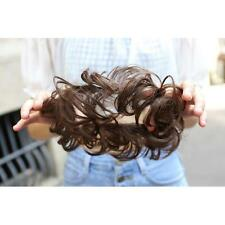 PONY TAIL EXTENSION WIG HAIRPIECE ELASTIC DONUT RING HAIR BUN SCRUNCHIE HOLDER #