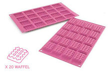 Stampo mini waffel silicone Silikomart SF 147 forno classic rettangolari - Rotex