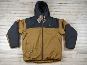 Nike ACG Puffer Brown Grey Jacket 4th Horseman Waterproof CV0638 060 Multiple sz