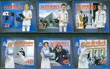 GB - ALDERNEY 2001 Community Services Series 1/Medical Services SG A163-A168 MNH