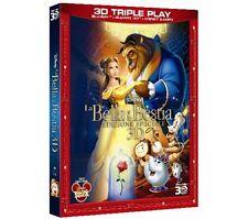 DISNEY BLU RAY La bella e la bestia - slip in rilievo 3D+2D+E_copy con celophan