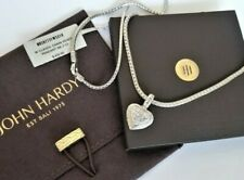 """John Hardy - White Topaz Heart Sterling Silver Necklace - 18"""" length - NWT! $650"""