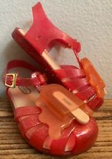 Mini Melissa Pink Melting Popsicle Ice Cream Sandals Jelly Toddler Size 9
