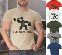 Gym T Shirt Gorilla Lift Heavy Weight Lifting Muscle Crossfit Slogan Tshirt Tees
