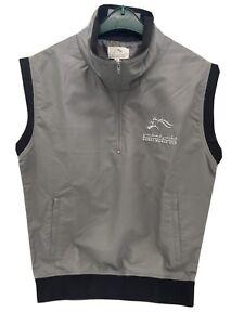 Men's Size M Golf Gilet Grey Equestrian Horse Racing Dubai World Cup Brand New