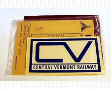 Charles Products Decals Blue Central Vermont 3.9 X 2 Inches Herald