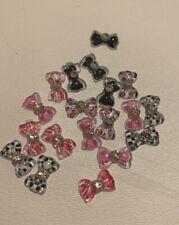 3d Bows | Decorative | Nails | White | Black | Pink