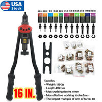 16 IN Rivet nut gun kit Rivnut Tool Nut Setter thread setting nutsert tool sae