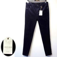 NUOVA linea donna M&S INDIGO Jeans Skinny Leg Cord ~ Taglia 10 Corto ~ Blackberry