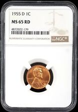 1955 D Lincoln Cent certified MS 65 RD by NGC!