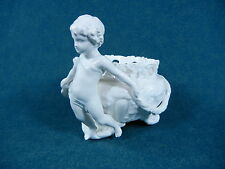 Copeland Spode White Bone China Cherub Figure Supporting Reticulated Vase / Bowl