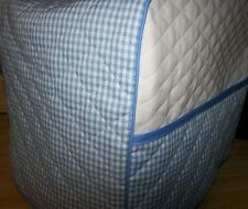 Blue/White Gingham Squares Quilted Cover for KitchenAid Mixer NEW