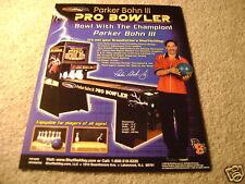 Parker Bohn pro bowler shuffle alley arcade flyer