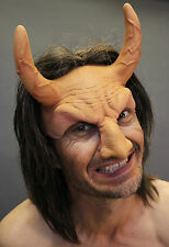 Horned Flesh Devil Beast Adult Halloween Mask Eat Drink & Party While Wearing