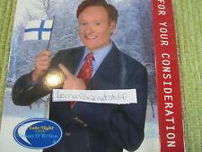 LATE NIGHT CONAN O'BRIEN EMMY DVD Finland Christmas Sp  BILLY JOEL DAVID CASSIDY