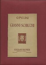 Libretto Opera 1931 Gianni Schicchi Giacomo Puccini Musica Gioacchino Forzano