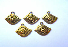5 x LUCKY WARD OFF THE EVIL EYE CHARMS BRONZE 21 x 18mm
