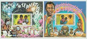Djibouti 1979 Souvenir Sheets #489-90 International Year of the Child - MNH