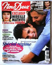 NOUS-DEUX du 18/9/2001; Mireille Mathieu/ Paolo Seganti, Largo Winch/ Régime