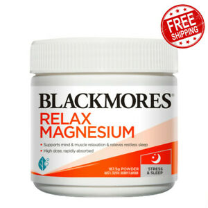 Blackmores Relax Magnesium Support Mind & Muscle Relaxation 187.5g Powder