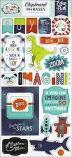 Echo Park ~ Imagine That Boy ~ 6x13 Chipboard Phrases Silver Foil