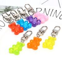 Cute Resin Animal Gummy Bear Keychain Keyring For Earphone Cover Jewelry Gi N9T