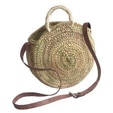 Small Round Palm Handbag Woven Straw Wicker Bag
