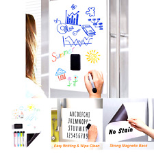 Magnetic Fridge Calendar Dry Erase White Board Sheet Meal Planners For Kitche
