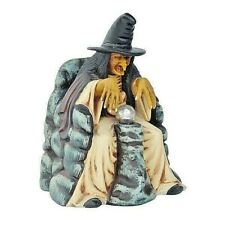 More details for witch sitting with crystal ball model figure statue halloween sculpture horror