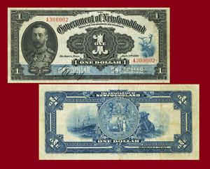 NEWFOUNDLAND 1 DOLLARS 1920. SHIP. UNC - Reproduction